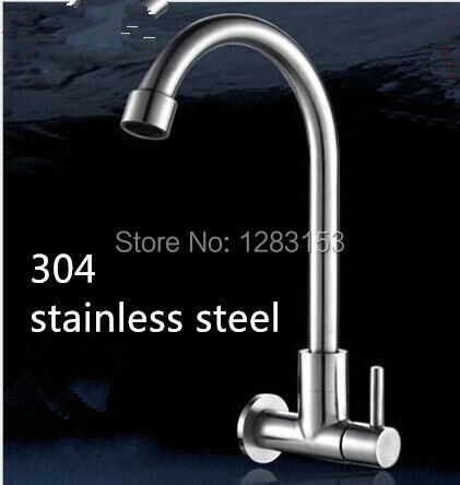 304 stainless steel discount kitchen faucets wall kitchen faucet 1 2inch kitchen sink faucets bathroom accessories