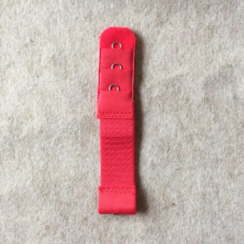 Новинка, 1 шт., 1 ряд, 3 крючка, удлинитель для бюстгальтера, нейлоновая застежка, удлинитель, эластичный на лямках, удлинитель для бюстгальтера, регулируемые аксессуары для интима - Цвет: Красный