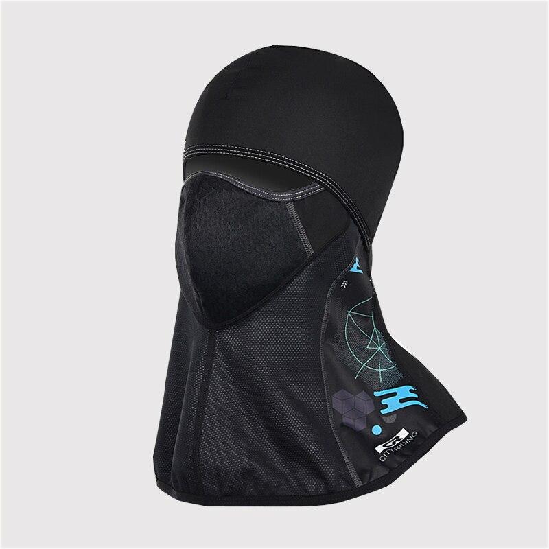 DEROACE hiver chaud capuche hommes et femmes cyclisme complet masques visage Ski froid chapeau pare-brise équipement extérieur coupe-vent chaud casque - 4
