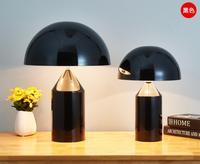 New Personality Modern mushroom Table Light sitting Room desk Lamp bedroom Lighting Bedside Black White