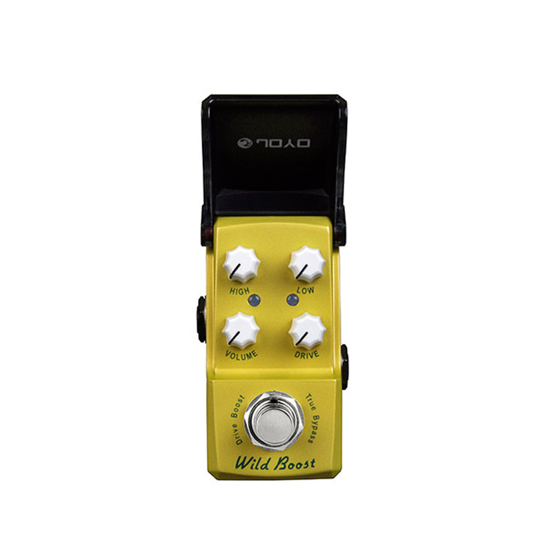 New Joyo Wild Boost Drive Booster JF-302 Ironman Mini Series Mini Smart Effect Pedal free shipping free the power supply new guitar effect pedal joyo digital reverb space verb ironman series mini pedal jf 317 1 pc pedal connector