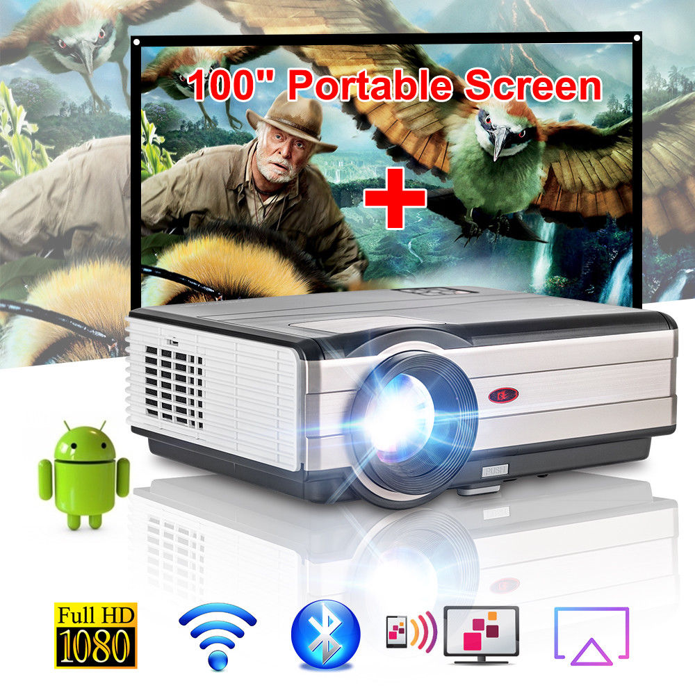 Caiwei Digital Led Projector Home Theater Beamer Lcd: CAIWEI LED Projector Smart Android WiFi Home Cinema Beamer