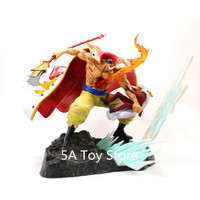 One Piece Statue Edward Newgate VS Sakazuki The Battle Over The Dome GK Resin Statue Collectible Model Decoration
