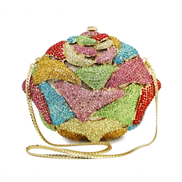 De D'embrayage Floral 8764a Bourse Strass Coloré c2 Sacs Forme Dames Sac Soirée qgtwBxZ