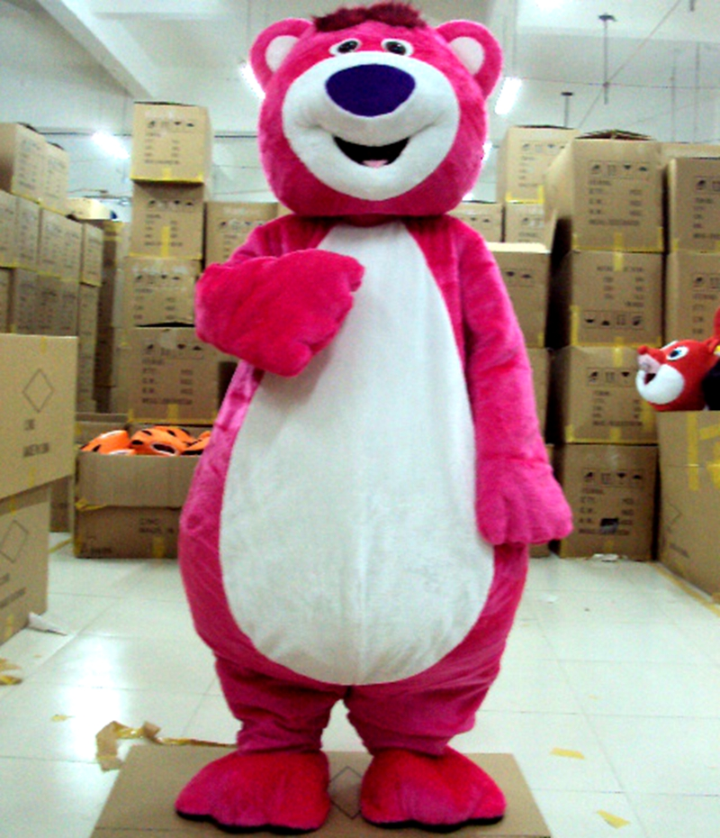 Pink LOTSO Bear mascot costume Adult Character Costume Fancy party Dress Cute Dolls mascotte costum Cosplay Outfits Adult Size