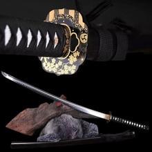 Home Decoration Katana T10 burned edges hand ground handmade Japanese sword collection home decoration knife brand