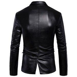 Image 5 - Marca Moto Giacche In Pelle Da Uomo Inverno Primavera Giacche di Pelle Abbigliamento Maschile di Business In Pelle Casuale Uomini Giacca Cappotti 5XL
