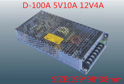 100W MINI Dual Output Switching power supply Output Voltage 5V 12V AC-DC D-100A