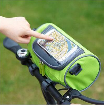 Resistente all'acqua Bicicletta Della Montagna Borse Borse bici Bici Da Strada Tubo della Parte Anteriore Del Manubrio Borsa Cilindro Touch Screen Ciclismo Sacchetto Del Telefono