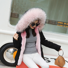 2017 Winter New Thick Coats With Fur Liner Women S Plus Size Large Real Fur Collar