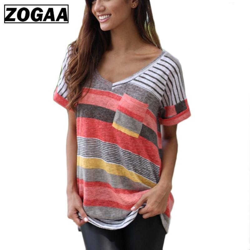 Summer T Shirt Women Thin Pocket Tops Tee Female Short Sleeve V-Neck Loose T-Shirt Plus Size S-5XL