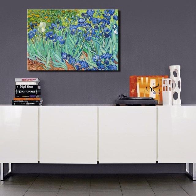 Van Gogh Irises Materpieces Oil Painting Prints Modern Wall Art Canvas for home decor living room & Van Gogh Irises Materpieces Oil Painting Prints Modern Wall Art ...