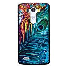 Casos de telefone para lg g4 g3 g5 colorido pena plumagem g4mini k7 k10 l70 l90 nexus5x 6 7 capas para htc m7 m8 m9 m10 one x a9 +