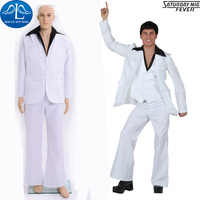MANLUYUNXIAO Classic Singer Cat King Elvis Presley Cosplay Costume White Suit Halloween Costume For Men Adult