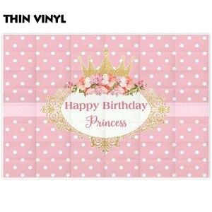 Image 2 - Allenjoy fotografie achtergronden kroon prinses roze birthday party flower frame achtergrond nieuwe photocall photobooth