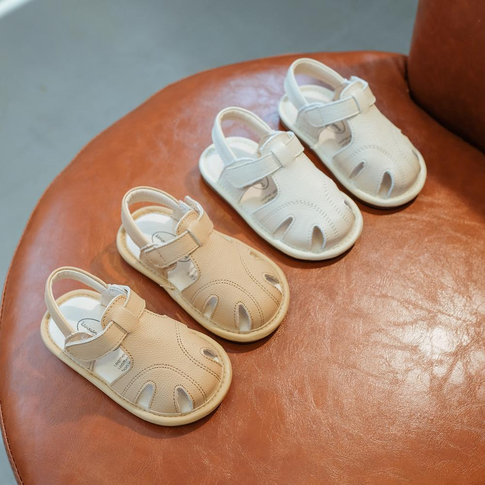 Summer New Baby Shoes 0 1 Years Old Baby Leather Non slip Anti kick Soft Tottom Toddler Shoes Learning to walk shoes