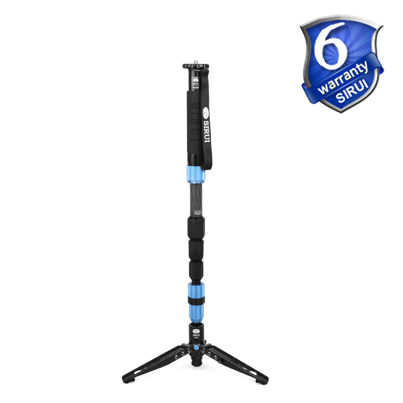 DHL Free Shipping Sirui P-224S P224S Monopod For Camera Carbon Fiber Portable Travel Tripod 4 section Carrying Bag Max Load 8kg