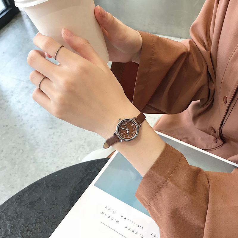 Elegant Retro Women Watches Brown Ladies Quartz Watch 2019 Fashion Casual Ulzzang Brand Small Female Leather Clock Roma Number
