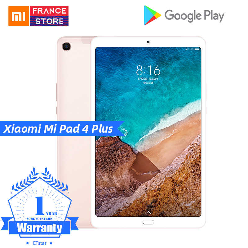 "Оригинальный Xiaomi mi Pad 4 Plus pc tablet 10,1 ""Snapdragon 660 Octa Core Face ID 1920x1200 13.0MP + 5.0MP 4G Планшеты Android mi Pad 4"