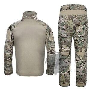 Image 3 - 에머슨 g3 컴뱃 셔츠 & 바지 바지 무릎 패드 세트 emersongear 전술 군사 사냥 gen3 위장 bdu 유니폼 mc