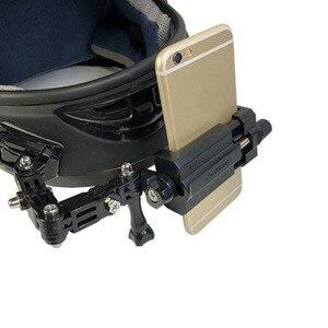 Image 5 - Universele Beugel Verstelbare Helm Curved Adhesive Side Mount Stand Houder voor iPhone X 8 Samsung Xiaomi 4 7 inch mobiele telefoon