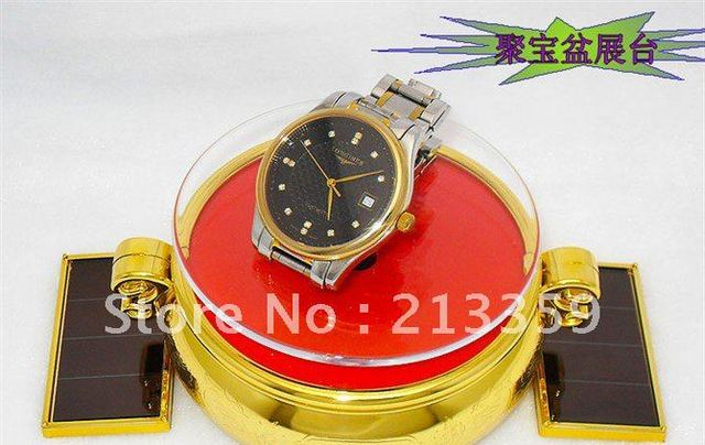 Free Shipping for Foldable Rotating Solar Powered Display Stand Turn Table for Phone Jewelry Watch etc Hot!