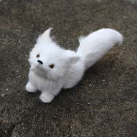 Real rabbit hair made artificial fox toy,high quality emulational animal display decoration,sweet doll gift child girls friends