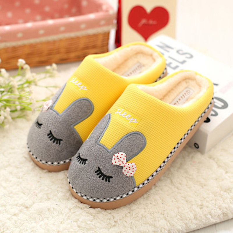 Winter Women Indoor Slippers Warm Plus Cotton Soft Ladies Flats Shoes Female Footwear Casual Women Shoes Slippers CBT1110