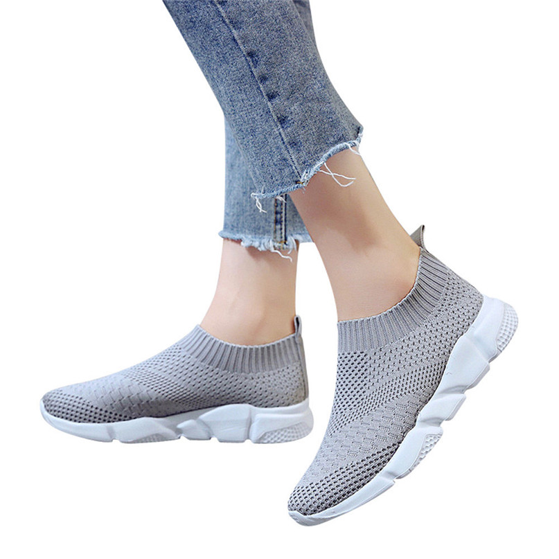 2018 New Outdoors adults trainers Running Shoes woman sock footwear sport athletic unisex breathable Mesh female Sneakers #2a (6)