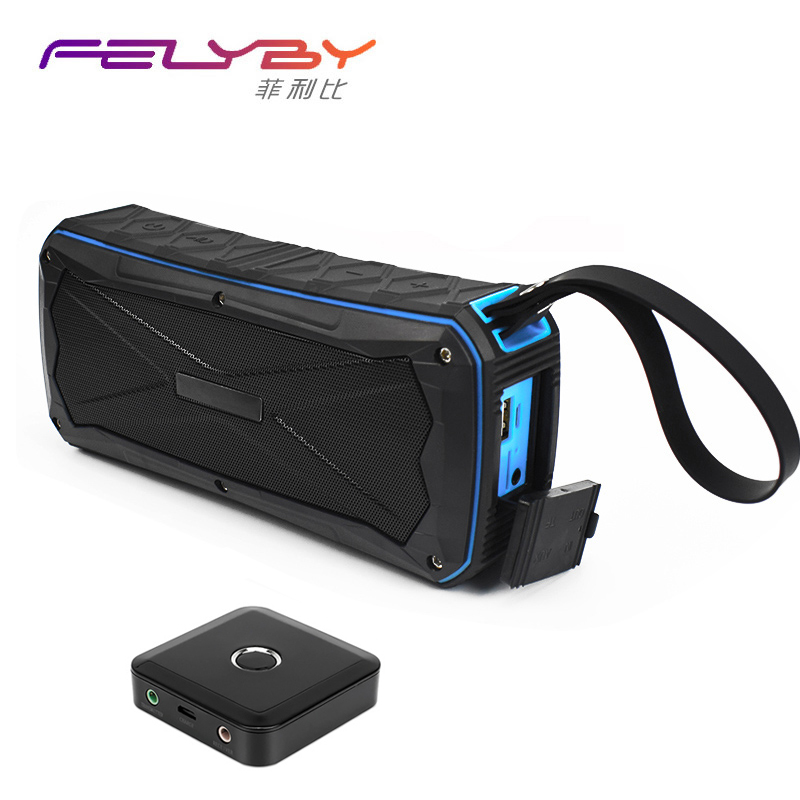 FELYBY Multi-function waterproof portable Bluetooth speakers Wireless mobile power Outdoor Speaker Support AUX TF card playback