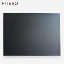 PITEBO кожаный Настольный органайзер файл Бумага клип для рисования и записи доска записывающая pad планшеты черный