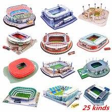 2020 del nuovo Gioco del Calcio Stadio 3D Di Puzzle Messicano Spagna Parco Giochi Modello di Architettura Del Mondo Assemblato Costruzione di Giocattoli Per I Bambini