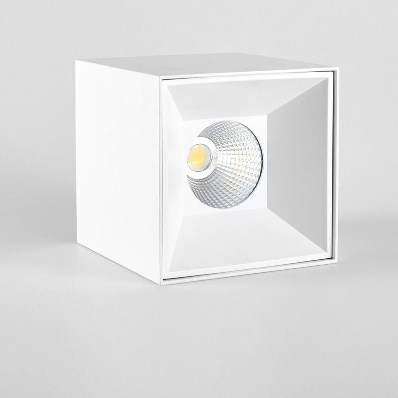 SCON AC110-240V LED Downlight carré bureau éclairage 4 pouce 20 12WCREE COB CRI Ra> 85 livraison ouverture hôtel génie lampe industrielle