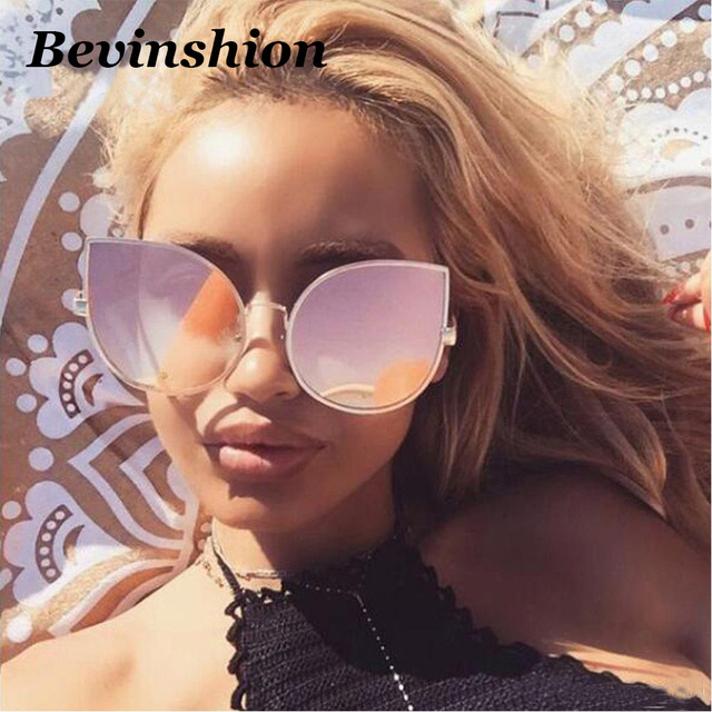 2bd0926f278 Luxury Heart Sunglasses Women Cat Eye Sunglasses Female Sun Glasses Clear  Color Lens Pink Frame Shades Goggles Oculos Lunette