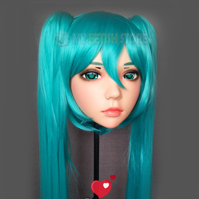 ling-04 Audacious female Sweet Girl Resin Half Head Kigurumi Mask With Bjd Eyes Cosplay Japanese Anime Role Lolita Mask Crossdress Doll Good Heat Preservation
