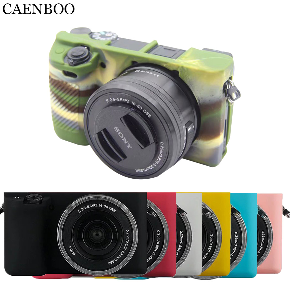 CAENBOO Camera Bags Cases Soft Flexible Silicone Cover For Sony Alpha A6000 ILCE-6000 Rubber Protective Body Cover Housing 16-50
