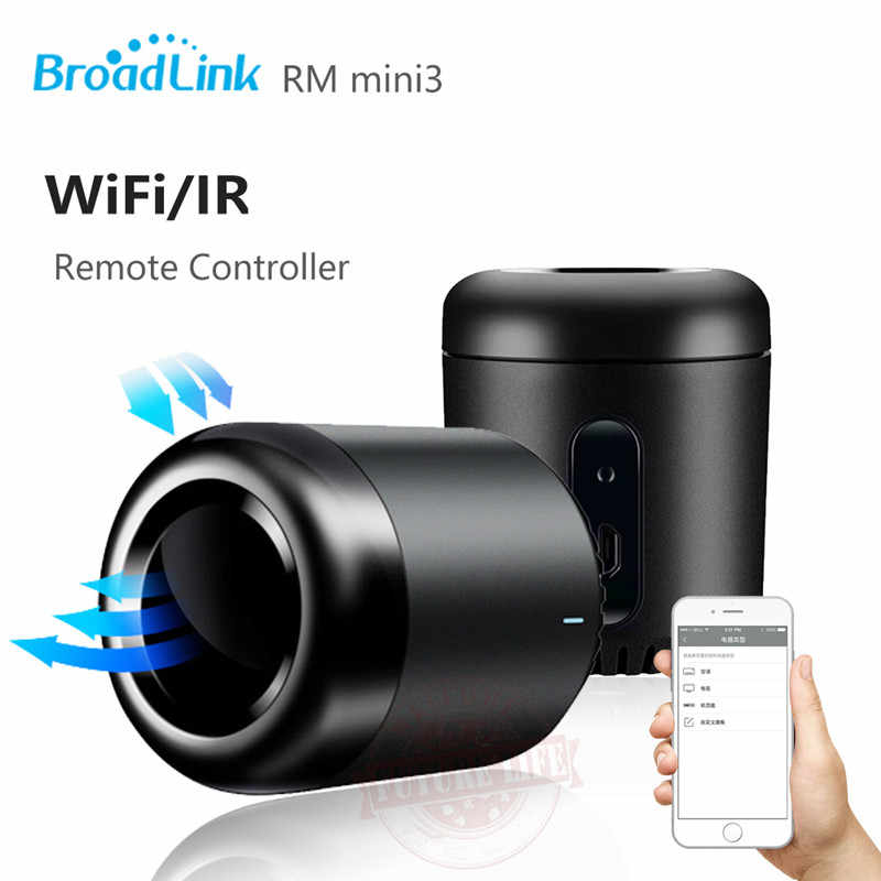 """Новый Broadlink RM Mini3, система автоматического управления """"умный дом"""", WiFi + ИК, универсальное интеллектуальное приложение Беспроводной пульт дистанционного управления для iphone IOS android"""