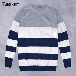 Tangnest plus size sweater 2017 new arrival men s fashion striped simple soft pullover male casual.jpg 250x250
