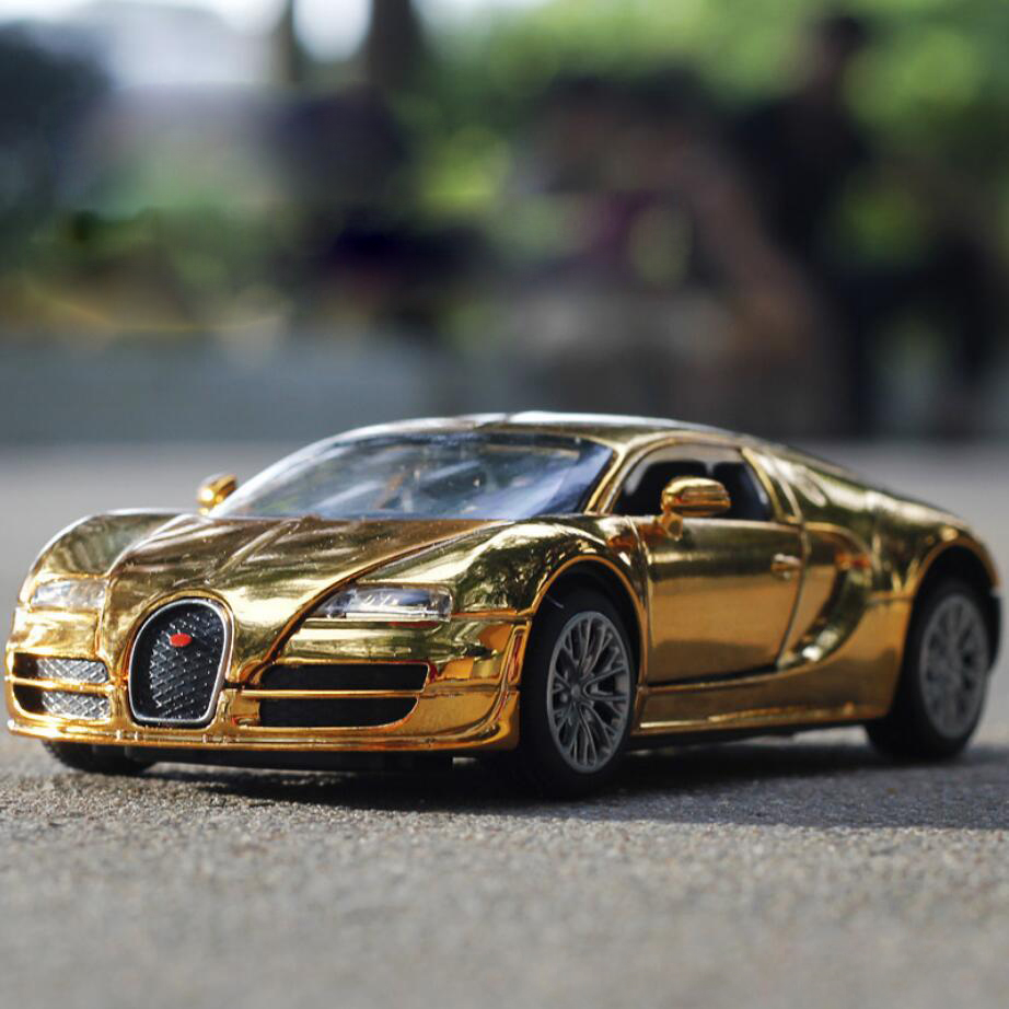 Shop Velocity Toys Diecast Bugatti Veyron Super Sport: Hot Collection 1:32 Scale Electroplating Dicast Super