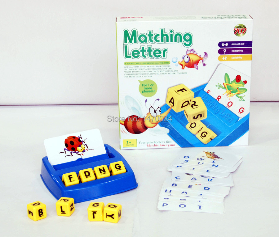 Language Learning Toys : Matching letter game alphabet letters card learn english