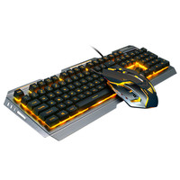 High Quality Compatibilty Gaming Keyboard Mechanical Keyboard and Mouse V1 104 Key USB Wired RGB LED Backl#ZS