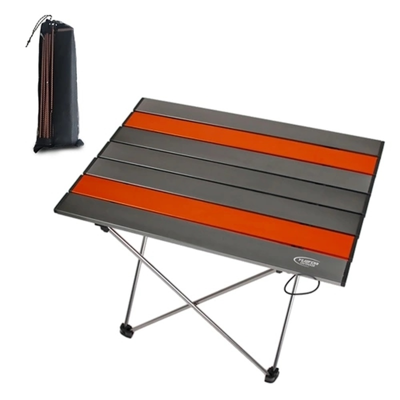 15% Table pliante Portable ultra-légère en alliage d'aluminium en plein air Camping Table de pique-nique bureau