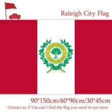 Free shipping Raleigh City Flag 60*90cm 90*150cm Flag North Carolina State 30*45cm Car Flag 3x5ft Polyester Banner 100d north carolina adjutant general s dept register of north carolina troops