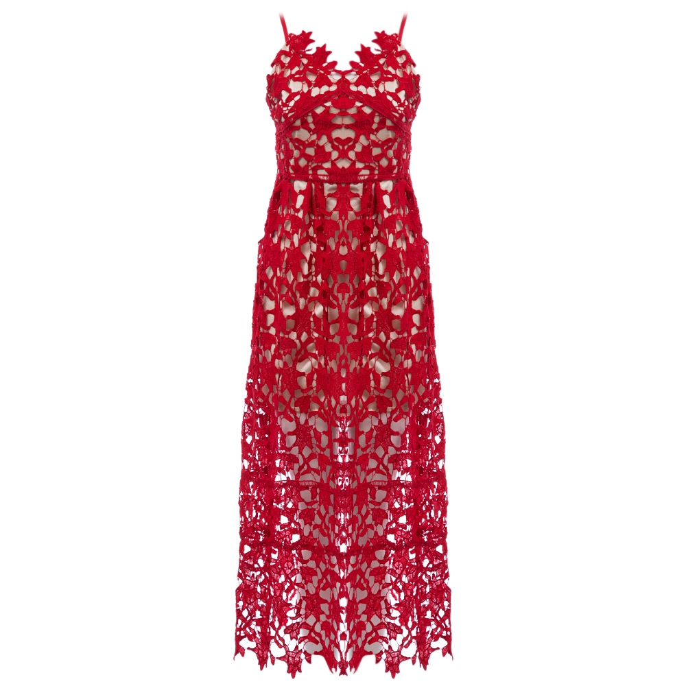 VESTLINDA Spaghetti Strap Backless Hollow Out Crochet Lace Dress Women Vestidos Mujer Robe Femme 2017 Summer Sexy Maxi Dress 8
