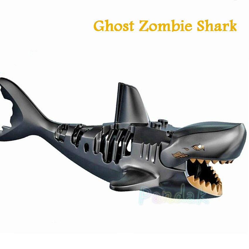 Ghost Zombie Shark Block Pirates of the Caribbean Single Sale Jack PG1008 Building Blocks Set Model Bricks Toys for Children hot classic movie pirates of the caribbean imperial warships building block model mini army figures lepins bricks 10210 toys
