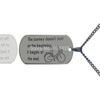 Персонализированные письма dog tag Цепочки и ожерелья Титан Сталь Наслаждайтесь путешествие Цепочки и ожерелья выгравировано имя ювелирные и...