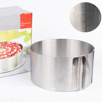 Adjustable 6-12 inchs Mousse Cake Ring Home DIY Bakeware Stainless Steel Cake Dessert Baking Tool
