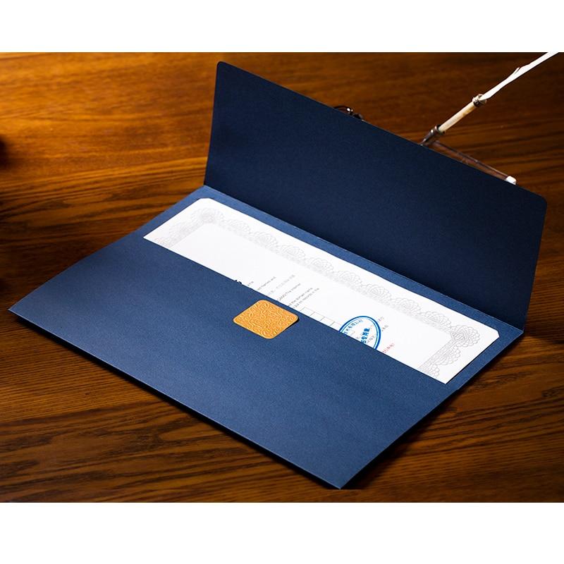 CUCKOO Certificate/document Paper Envelope Novelty Dignified Elegant Three Folding File Sets Paper Envelope 3 Pcs/lot