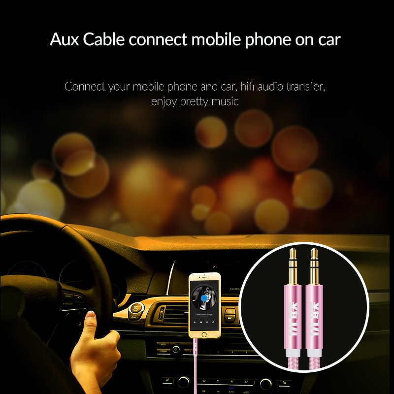 Unnlink Jack 3.5mm kabel Audio przewód głośnikowy przewód aux do słuchawek samochodowych zestaw słuchawkowy mp3 4 odtwarzacz Radio głośnik wzmacniacz