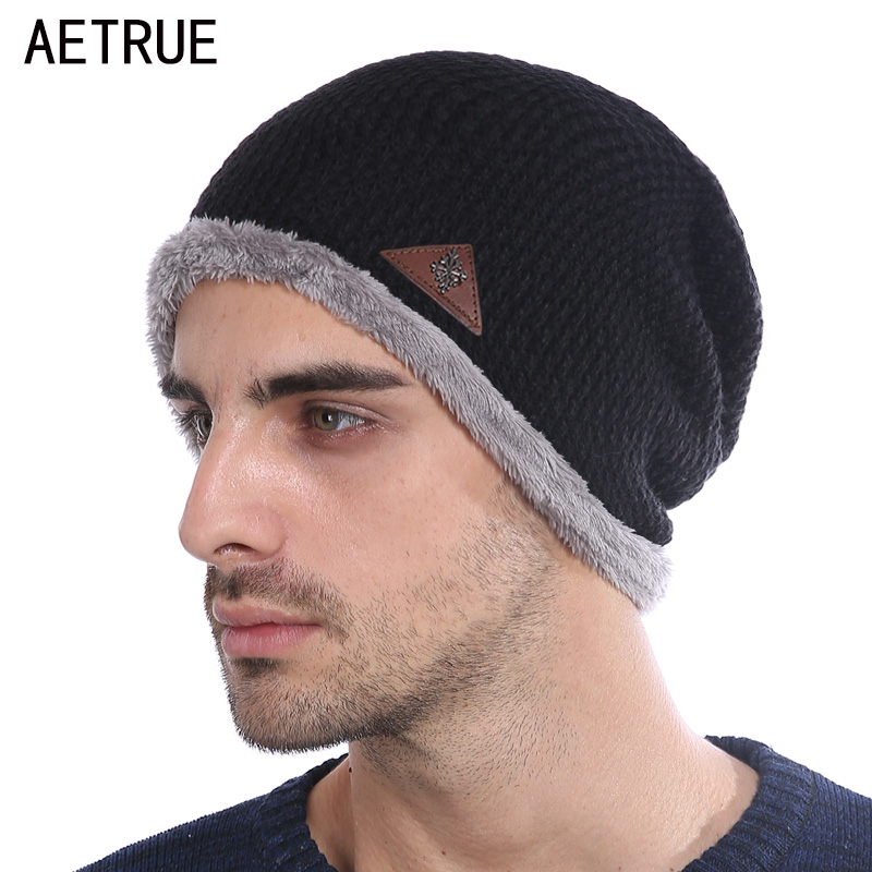 AETRUE Winter Beanies Men Knitted Hat Winter Hats For Women Men Beanie Skullies Fur Bonnet Warm Plain Flat Baggy Wool Knit Cap aetrue beanies knitted hat winter hats for men women caps bonnet fashion warm baggy soft brand cap skullies beanie knit men hat